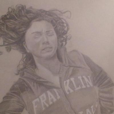 portrait au crayon de papier